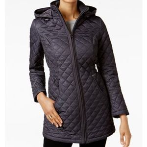 Laundry by Shelli Segal Quilted Coat Sz Medium